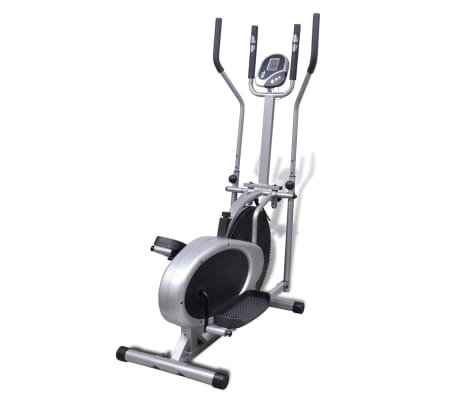vidaXL Bicicleta elíptica con 4 sensores de pulso[5/9]
