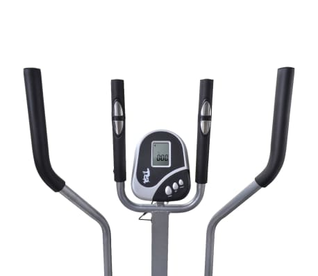 vidaXL Crosstrainer met 4 stangen en hartslagmeter[6/9]