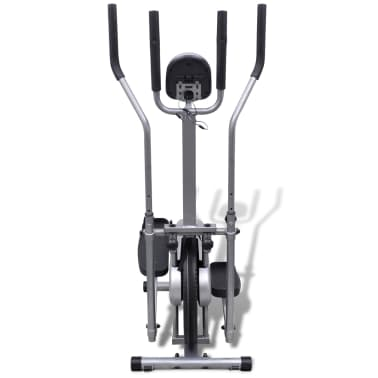 vidaXL Crosstrainer met 4 stangen en hartslagmeter[2/9]