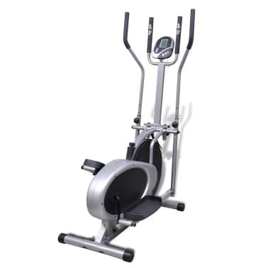 vidaXL Crosstrainer met 4 stangen en hartslagmeter[5/9]