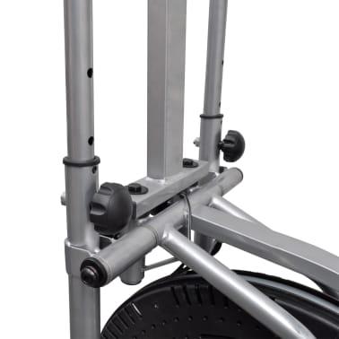 vidaXL Crosstrainer met 4 stangen en hartslagmeter[7/9]