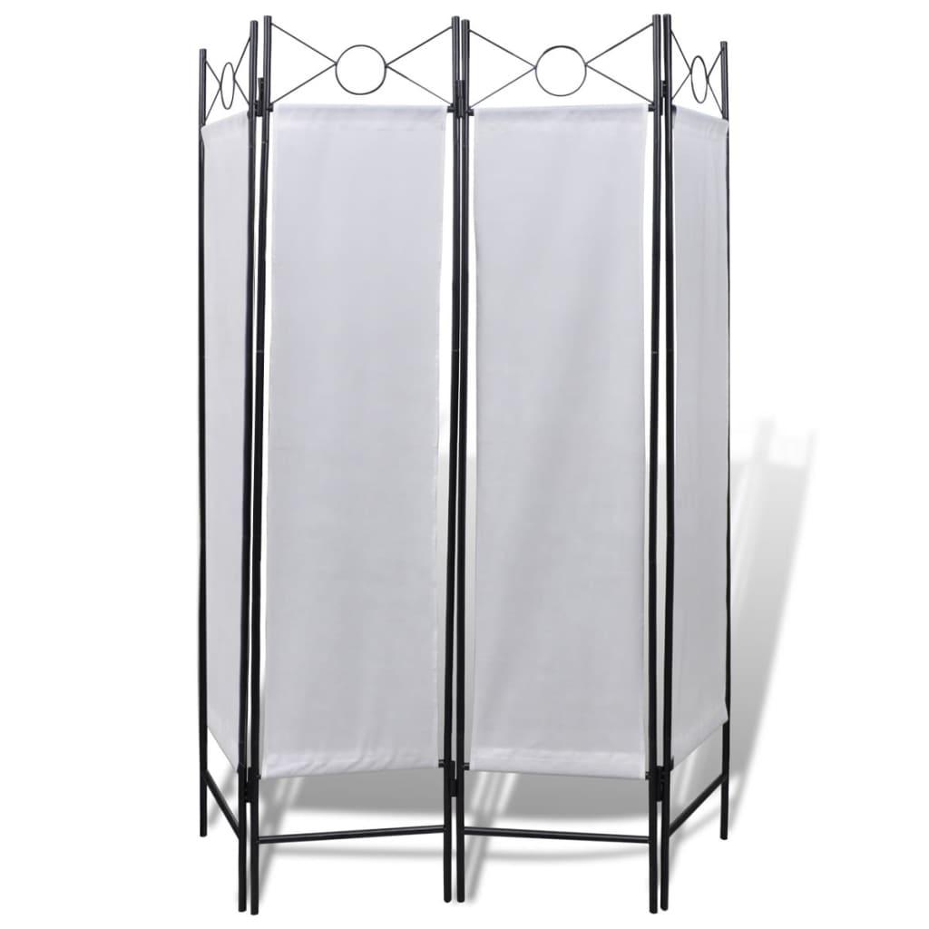 99240808 Raumteiler 4tlg Sichtschutz Wandschirm weiß 160x180