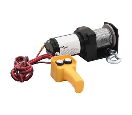 12 V Electric Winch 2000 lb Wire Remote Control[2/5]