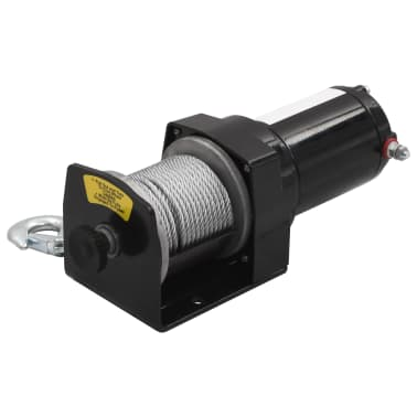 Electric Winch 3000 lb with Plate Roller Fairlead[2/7]