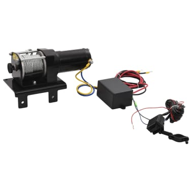 Electric Winch 3000 lb with Plate Roller Fairlead[3/7]