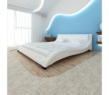 Wave Bed Frame PU Artificial Leather 200 x 180 cm White | vidaXL.com.au