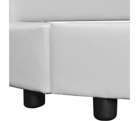 kunstleder polsterbett rundbett lattenrost 180x200 wei g nstig kaufen. Black Bedroom Furniture Sets. Home Design Ideas