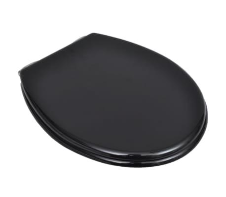 vidaXL Toalettsits med mjuk stängning MDF svart[3/9]