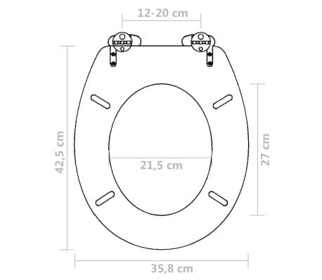 vidaXL Toalettsits med mjuk stängning MDF svart[9/9]