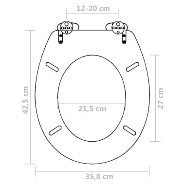 Brilliant Vidaxl Toiletbril Soft Close Simpel Ontwerp Mdf Bruin Machost Co Dining Chair Design Ideas Machostcouk