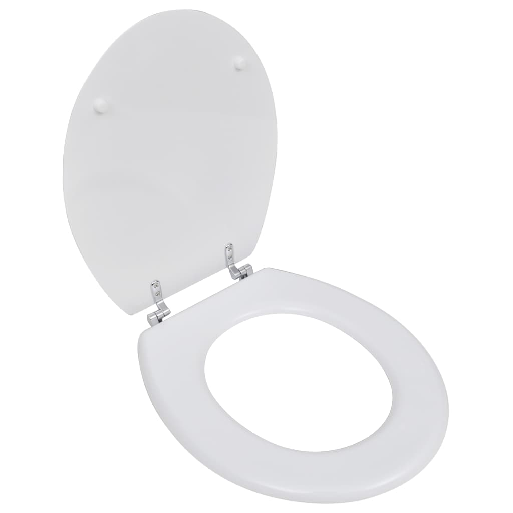 vidaXL Capac WC, alb, MDF, model simplu imagine vidaxl.ro