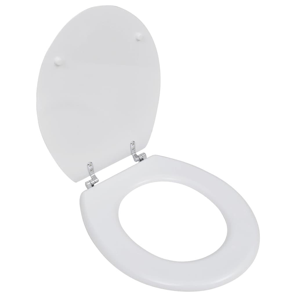 vidaXL WC sedátko MDF prostý design bílé