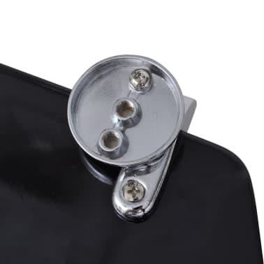 vidaXL Toiletbril hard-close simpel ontwerp MDF zwart[7/9]