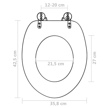 vidaXL Toilet Seats with Hard Close Lids MDF Brown[9/9]