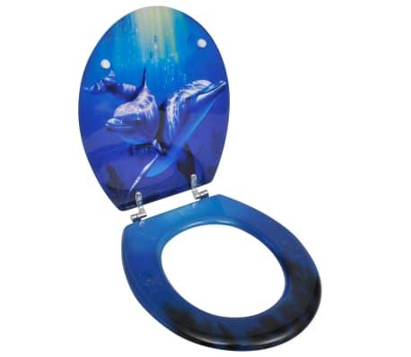 WC-bril met MDF deksel en dolfijn-ontwerp[1/9]