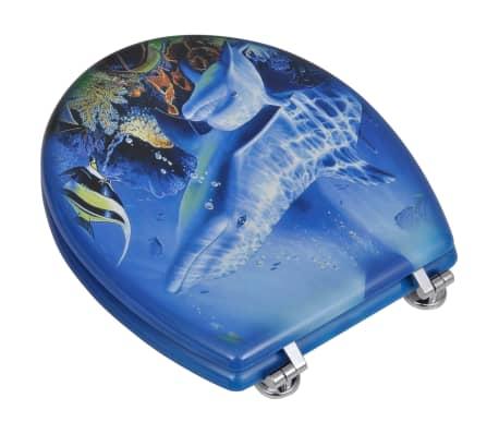 WC-bril met MDF deksel en dolfijn-ontwerp[3/9]