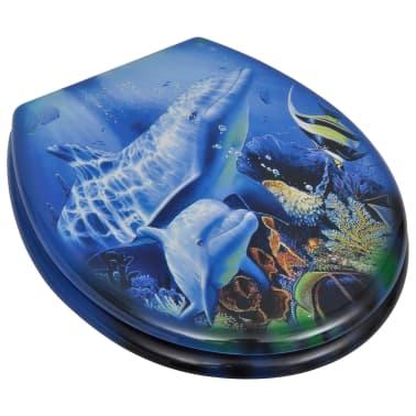 WC-bril met MDF deksel en dolfijn-ontwerp[2/9]