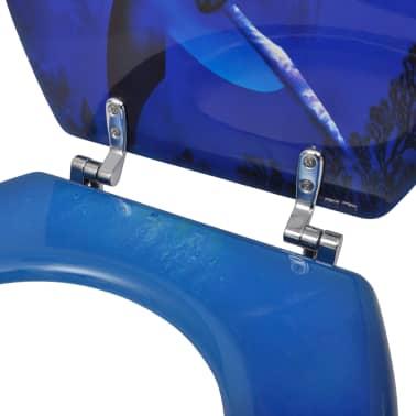 WC-bril met MDF deksel en dolfijn-ontwerp[6/9]