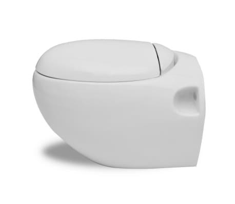 Vägghängd toalett och bidé i Vitt[7/13]