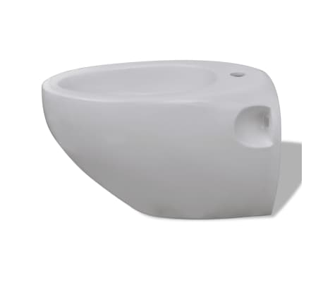 Vägghängd toalett och bidé i Vitt[10/13]
