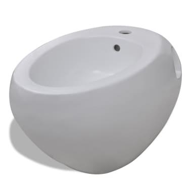 Vägghängd toalett och bidé i Vitt[8/13]