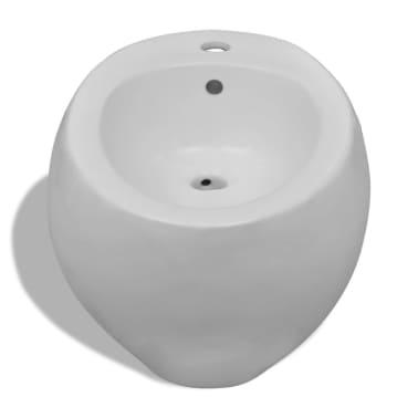 Vägghängd toalett och bidé i Vitt[9/13]