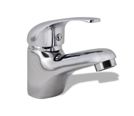 vidaXL Grifo mezclador de lavabo cromado[1/6]