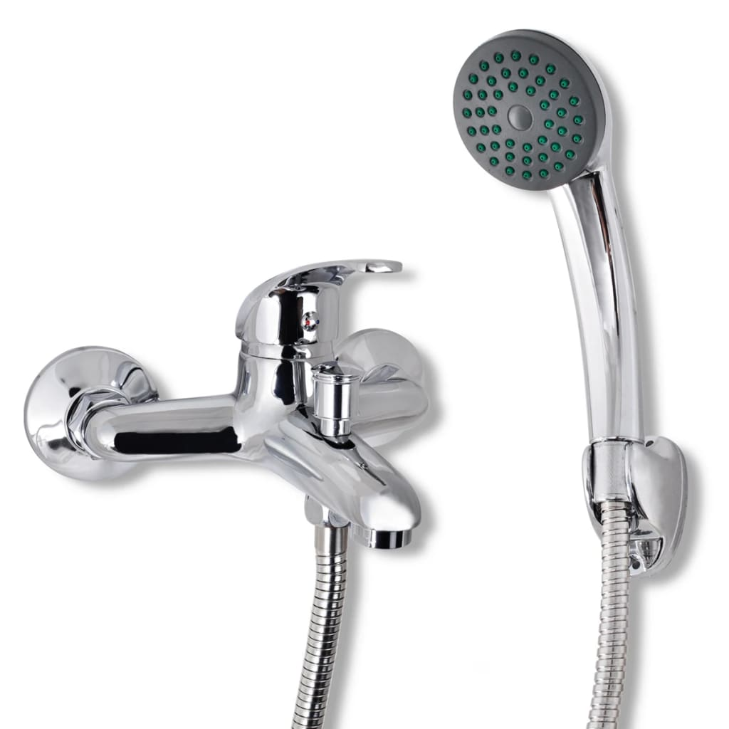 vidaXL Set baterie robinet duș pentru baie, crom imagine vidaxl.ro