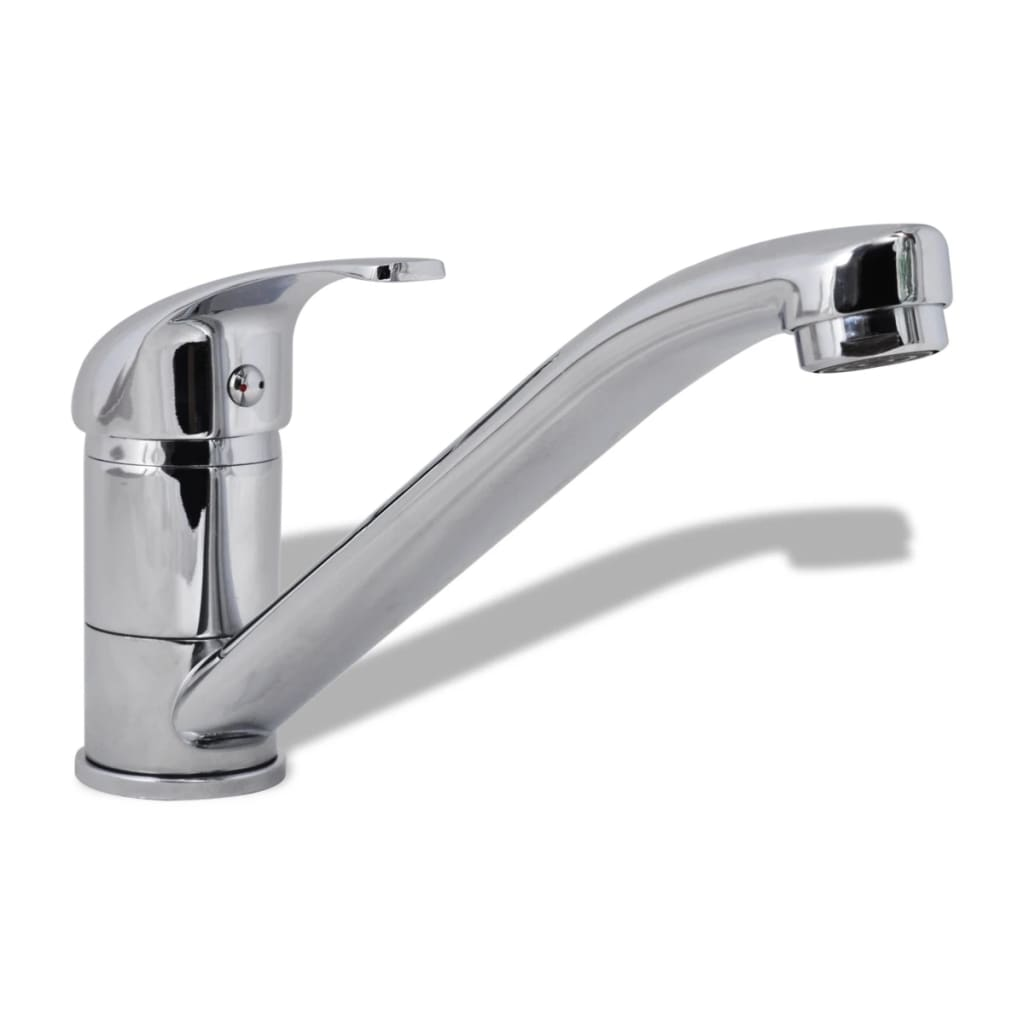 vidaXL Faucet Kitchen Mixer Single Handle Long Neck Swivel