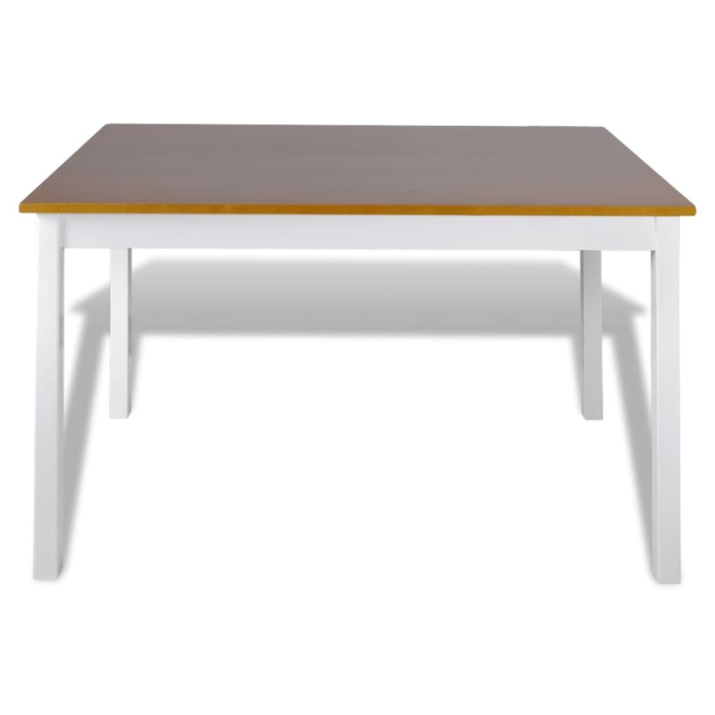 vidaXL Houten eettafel met 4 stoelen (bruin)