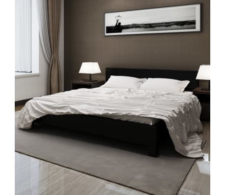 kunstleder bett 180x200 polsterbett lattenrahmen schwarz. Black Bedroom Furniture Sets. Home Design Ideas