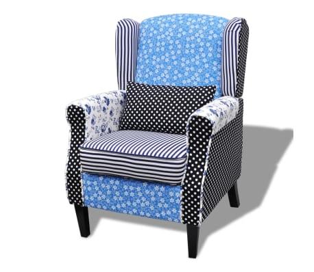 vidaXL Křeslo patchwork textilní