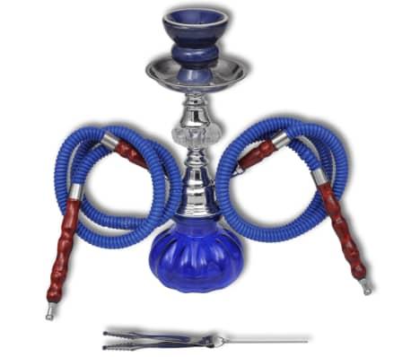 Szisza, shisha, fajka wodna, niebieska z dwoma wężami[3/3]
