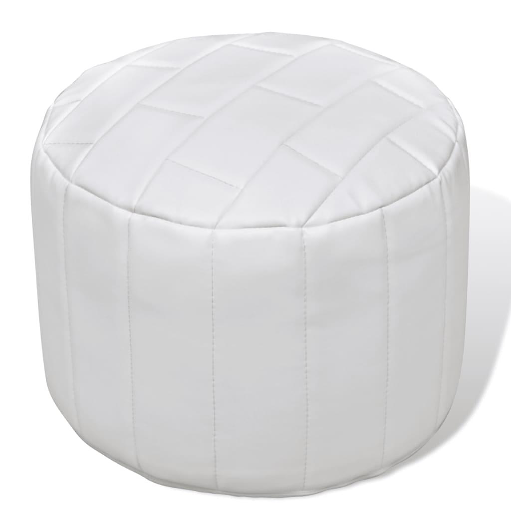 Moderní kulatá podnožka bílá, jednoduchý design