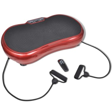 Fitness Vibration Plate Small 200 W with Belts Red[1/7]