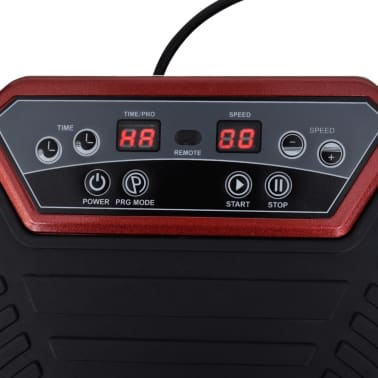 Fitness Vibration Plate Small 200 W with Belts Red[5/7]