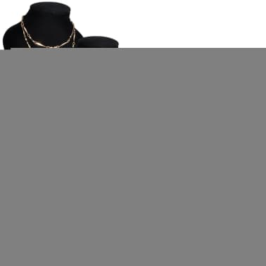 "Flannel Jewelry Holder Necklace Bust Black 3.5"" x 3.3"" x 6"" 4 pcs[1/5]"