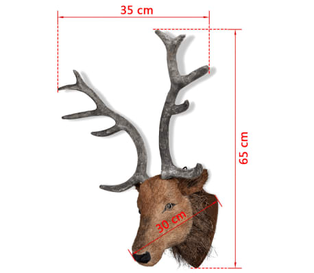 Deer Head Wall Mounted Decoration Natural Looking[6/6]