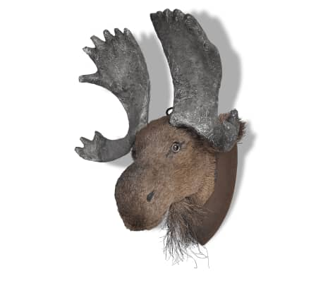 vidaXL Cabeza de Ciervo Caña Espuma Aspecto Natural Adorno Animal de Pared
