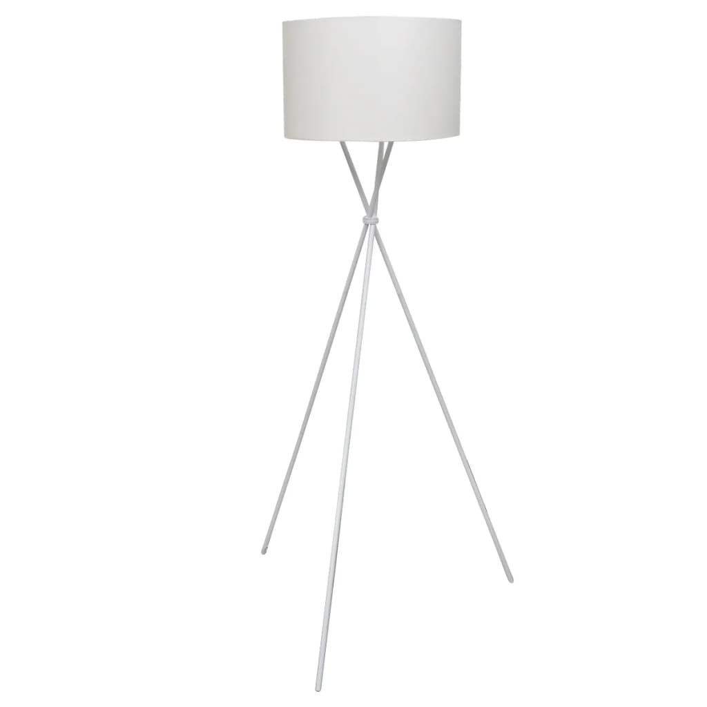 vidaXL Stojací lampa s vysokým stojanem bílá