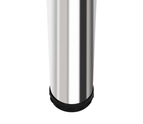 vidaXL Bar Table MDF with 2 Steel Legs High Gloss White[3/5]