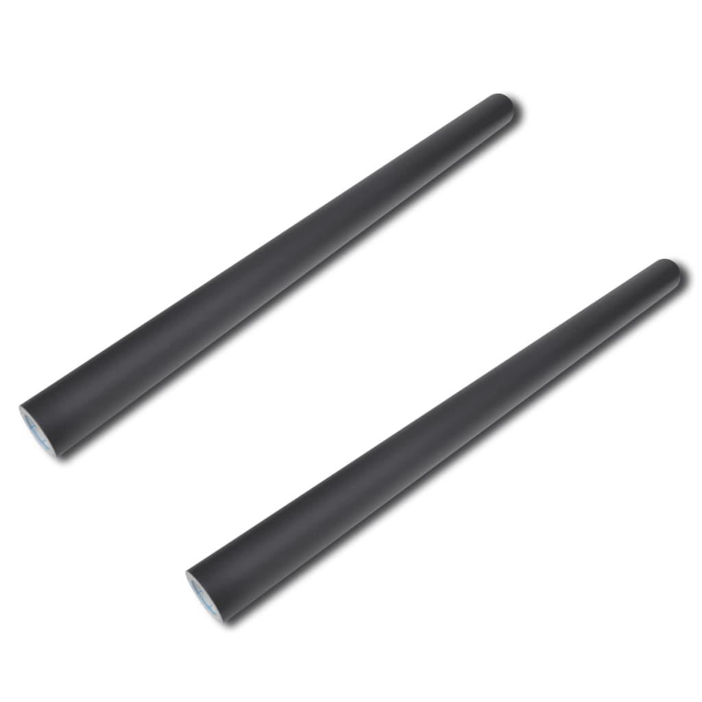 vidaXL Krijtbord stickerrollen 2 st 0,45 x 2 m - incl. krijt