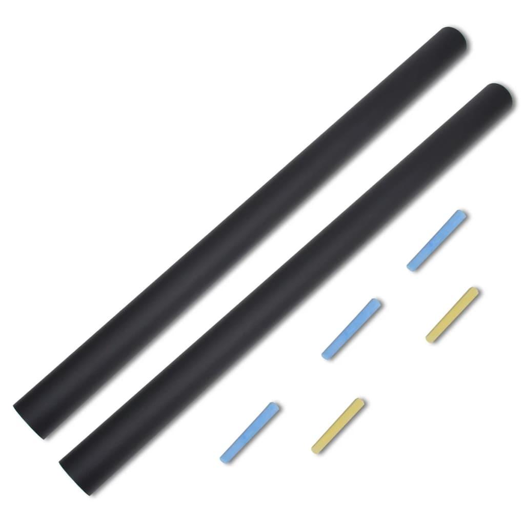 vidaXL Wall Sticker Blackboard 0.6 x 2 m Rolls with Chalks