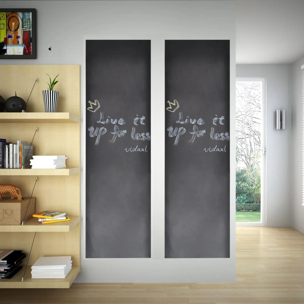 Nalepovací černá tabule na stěnu, 2 role 0,6 x 3 m + křídy