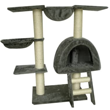 Cat Tree 105 cm Grey Plush with 2 Scratching Posts[1/3]