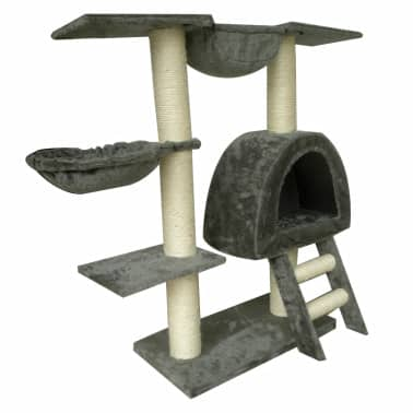 Cat Tree 105 cm Grey Plush with 2 Scratching Posts[3/3]