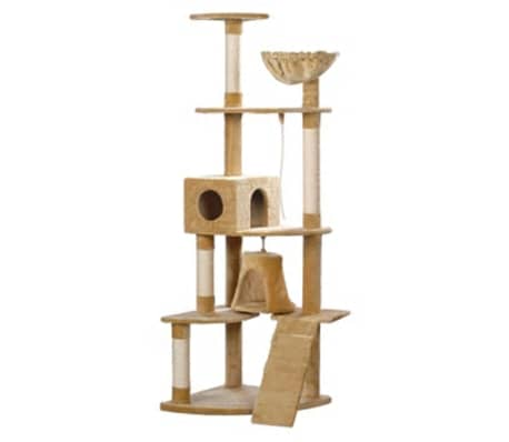Cat Play Tree 191 cm Beige Plush[1/2]