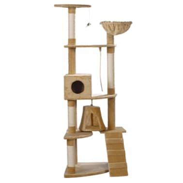 Cat Play Tree 191 cm Beige Plush[2/2]