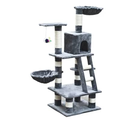 Cat Play Tree 122 cm Grey Plush[2/5]