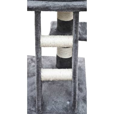 Cat Play Tree 122 cm Grey Plush[4/5]